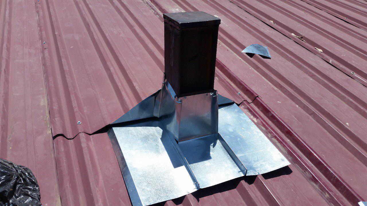 آببندی لوله دودکش خروجی از سقف شیروانی
